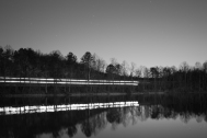 Train over Lake