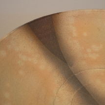 Hagi Ware - Yomato Tsutomu - Bowl with engobe and gold leaf decor