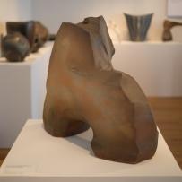 Hagi Ware - Kaneta Masanao - Pounded, hand-hollowed vase with engobe