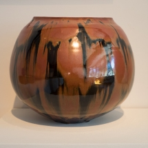 Seto and Mino Ware - Hori Toshiro - Iron-glazed jar
