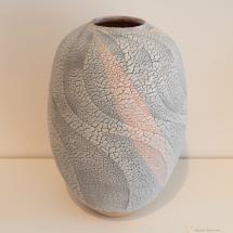 Seto and Mino Ware - Saki Hiroshi - Bluish Shino Jar