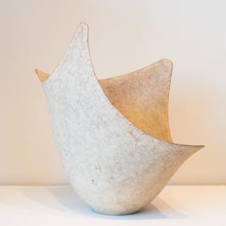 Tokyo vicinity and Mashiko Ware - Nisaka Mitsukuni - Unglazed bowl with slip decor
