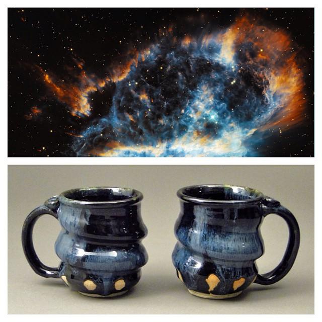 Cosmic-Mugs-Oil-Spot-Black-Cherrico-Pottery-2014